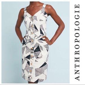 Anthropologie Sissa Brazil structured dress size 4